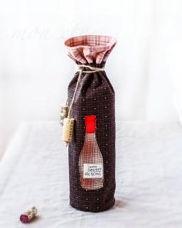 致朋友的禮物 - 手作酒袋